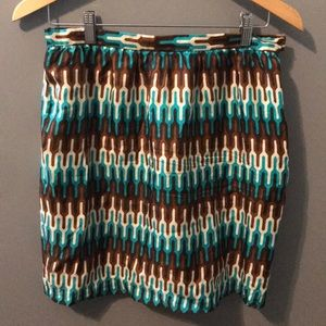 Milly printed skirt size 8